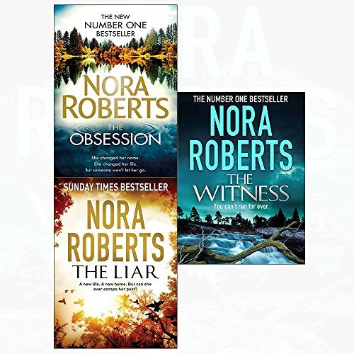 Nora roberts obsession, liar, witness 3 books collection set