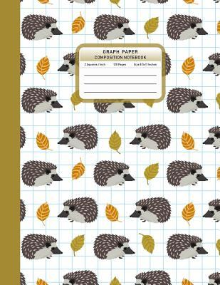 Graph Paper Composition Notebook: Hedgehogs Pattern 1/2 Inch Squared Graphing Paper Math Science Sketch Drawing Writing Student Teacher School College Supplies 8.5x11 Inches 120 Pages