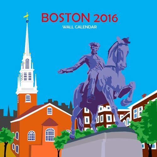 Boston Wall Calendar: 2016