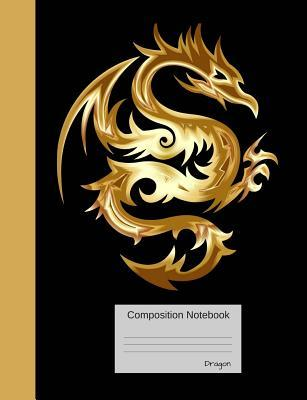Dragon Composition Notebook: Half Blank, Half Lined Book for Teens, Students and Teachers, for School and Work, Journaling and Writing Notes