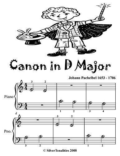 Canon in D Major Beginner Piano Sheet Music Tadpole Edition
