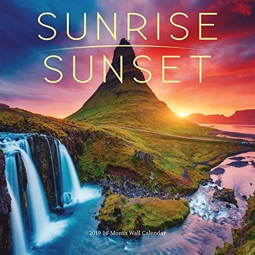 2019 Avalon 12 X 12 Sunrise/Sunset Wall Calendar
