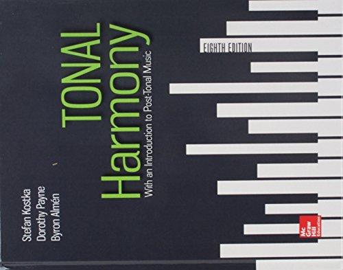 GEN COMBO TONAL HARMONY; WORKBOOK TONAL HARMONY; MP3 DISC TONAL HARMONY