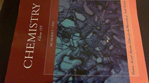 Chemistry Custom University of North Dakota 6th Edition (Chem 122)