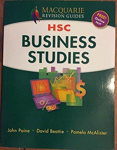 MACQUARIE REVISION GUIDES HSC BUSINESS STUDIES
