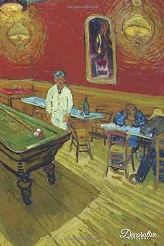 Decorative Notebook: The Night Cafe by Vincent Van Gogh Journal Pocket-sized Notebook Travel Diary