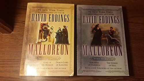 MALLOREON VOLUME 1 AND 2 (5 books total) Vol. 1: Guardians of the West, King of Murgos, Demon of Karanda. Vol. 2: Sorceress of Darshiva, The seeress of Kell