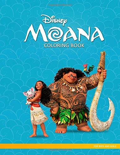 Moana Coloring Book: Adventures of Disney Moana