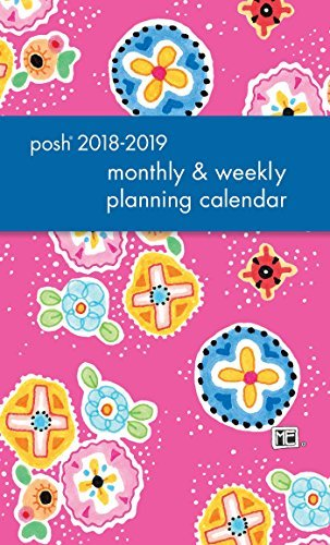 Posh: Pink Patchwork 2018-2019 Monthly/Weekly Planning Calendar