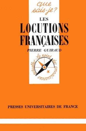 Les locutions françaises