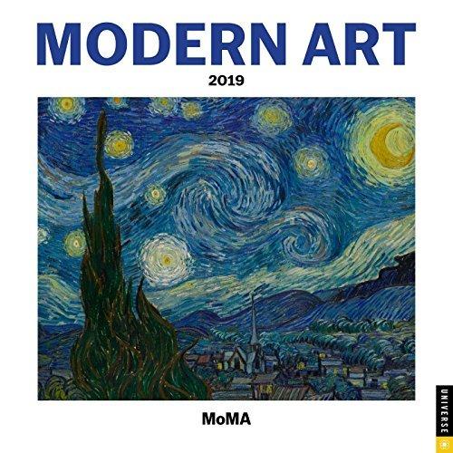 Modern Art 2019 Mini Wall Calendar