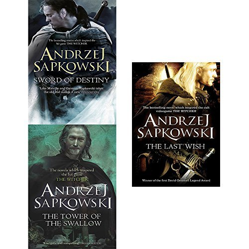 The witcher series 3 books set collection : the towers of the swallow,sword of destiny,the last wish.