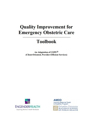 Quality Improvement for Emergency Obstetric Care