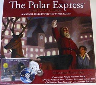 The Polar Express Holiday Gift Set Book DVD Keepsake Sleigh Bell CD & Collectible Poster