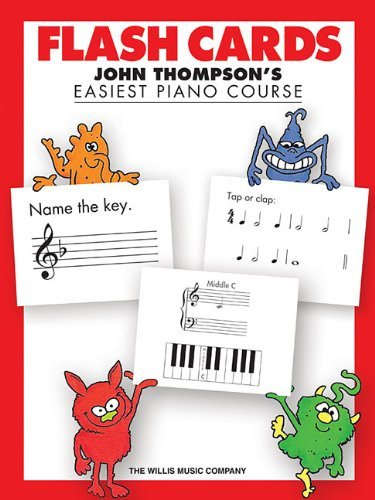 John Thompson's Easiest Piano Course Flash Cards