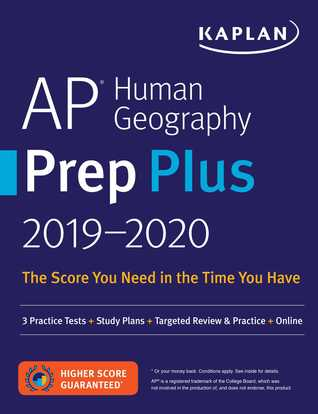 AP Human Geography Prep Plus 2019-2020: 3 Practice Tests + Study Plans + Targeted Review  Practice + Online