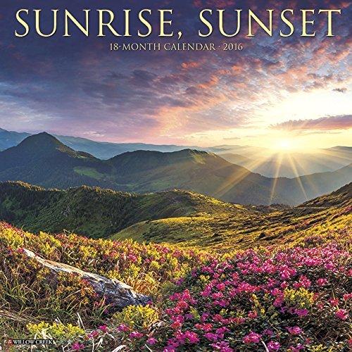 2016 Sunrise, Sunset Wall Calendar
