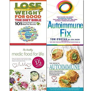 Autoimmune fix [hardcover], life changing rescue solution, healthy medic food and diet bible 4 books collection set