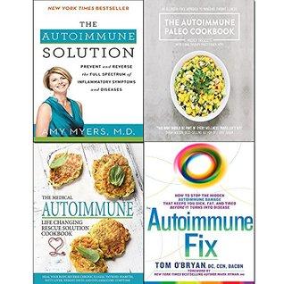 Autoimmune fix [hardcover], solution, paleo cookbook and medical autoimmune life 4 books collection set
