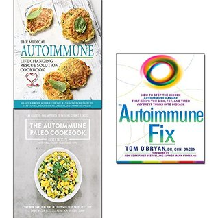 Autoimmune fix [hardcover],paleo cookbook,medical autoimmune life changing rescue solution 3 books collection set