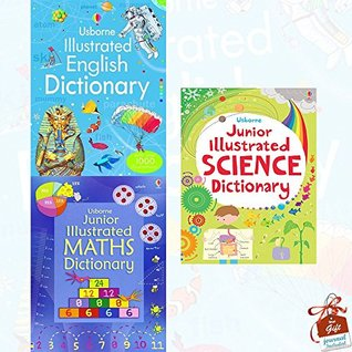 Usborne Illustrated Dictionaries Collection 3 Books Bundle With Gift Journal