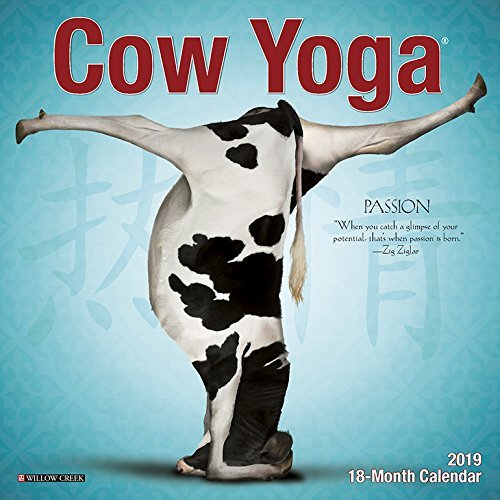 Cow Yoga Mini 2019 Wall Calendar
