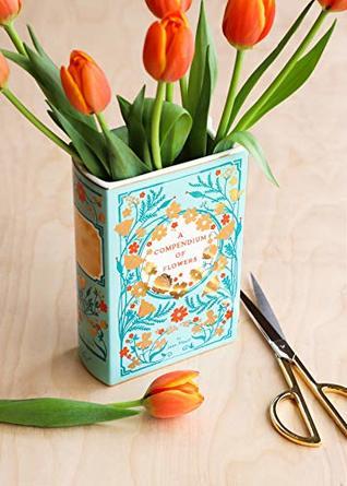 Bibliophile Ceramic Vase: A Compendium of Flowers