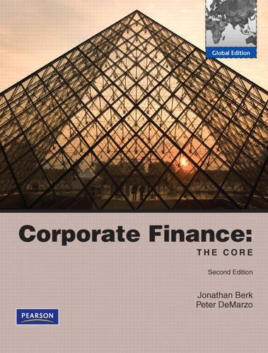 Corporate Finance: The Core: Global Edition