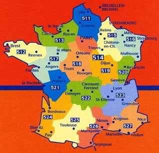 Michelin Map 525 Midi - Pyrenees (France) (Haute Resistance) (Tear-Resistant)