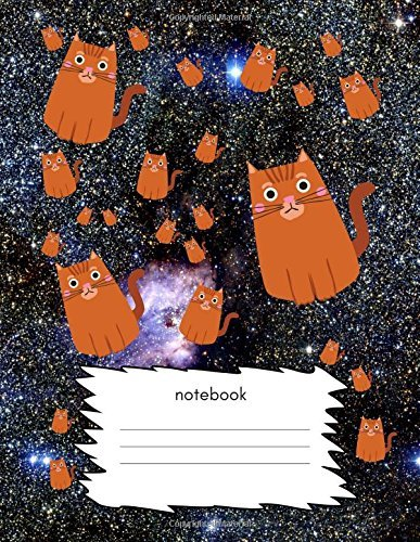 Notebook: Handwriting Cursive Notebook/ Exercise Book for Adults/Kids/Children (Blank Practice Paper/Writing Sheets) Penmanship/Co-Ordination/Joining Up Letters Skills) Cats in Space