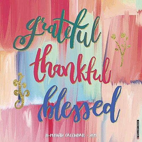 Grateful, Thankful, Blessed 2019 Wall Calendar