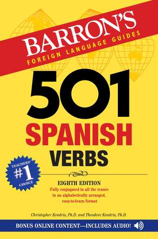 501 Spanish Verbs, 8th edition