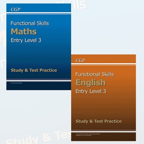 Functional Skills Collection Entry Level 3 Study & Test Practice 2 Books Bundle
