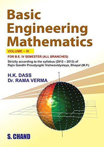 Basic Engineering Mathematics: Volume III