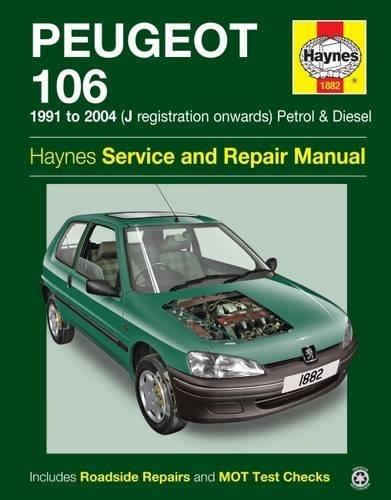 Peugeot 106 Petrol & Diesel (91 - 04) Haynes Repair Manual