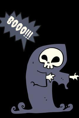 Booo!!!: Halloween Scared Skeleton Grimthemed Notebook