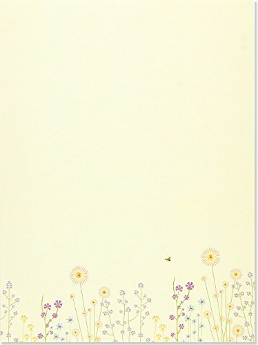 Boxed Stationery Set Sparkly Garden