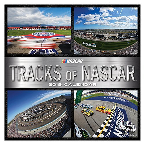 "Time Factory Tracks of NASCAR 12"" x 12"" January -December 2019 Wall Calendar (19-1200)"