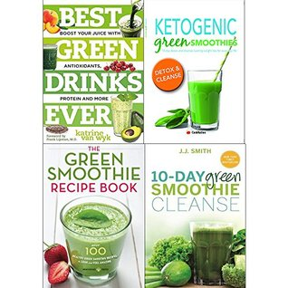 Best green drinks ever, ketogenic green smoothies, green smothie recipe book and 10 day green smoothie cleanse 4 books collection set