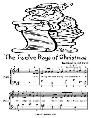The Twelve Days of Christmas Easy Piano Sheet Music Tadpole Edition