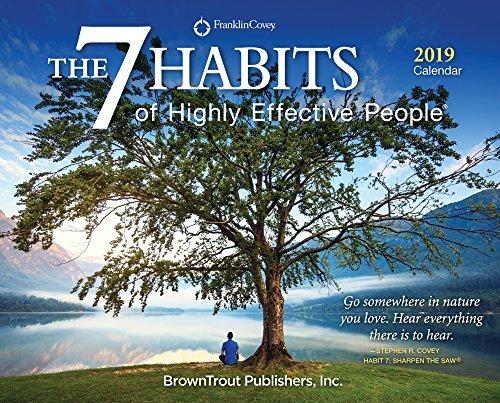 The 7 Habits of Highly Effective People 2019 Desktop Box Calendar, Self Help Improvement