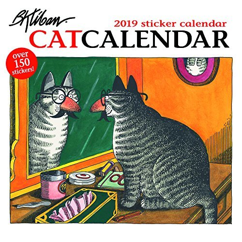 B. Kliban - Catcalendar 2019 Sticker Calendar