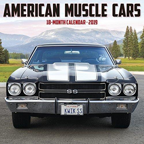 American Muscle Cars 2019 Wall Calendar