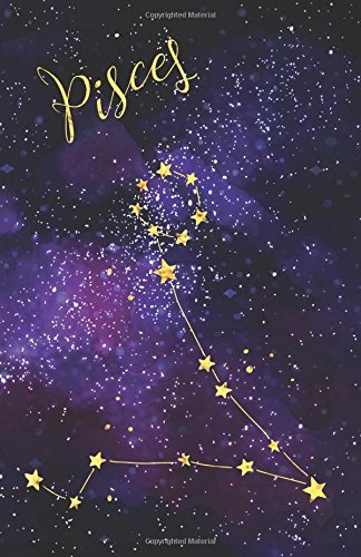 Journal Notebook Zodiac Sign Pisces Constellation: Blank Journal To Write In, Unlined For Journaling, Writing, Planning and Doodling, For Women, Men, ... Easy To Carry Size (Plain Journal) (Volume 8)