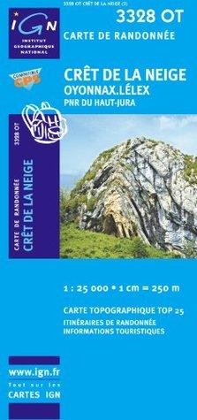 Crêt de La Neige / Oyonnax / Lélex/ PNR du Haut Jura gps