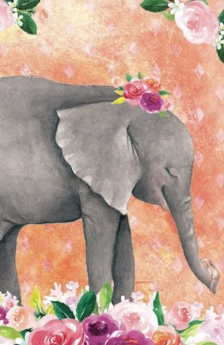 Journal Notebook For Animal Lovers Baby Elephant In Flowers: 162 Lined and Numbered Pages With Index Blank Journal For Journaling, Writing, Planning and Doodling. (Journal Notebook Lined) (Volume 5)