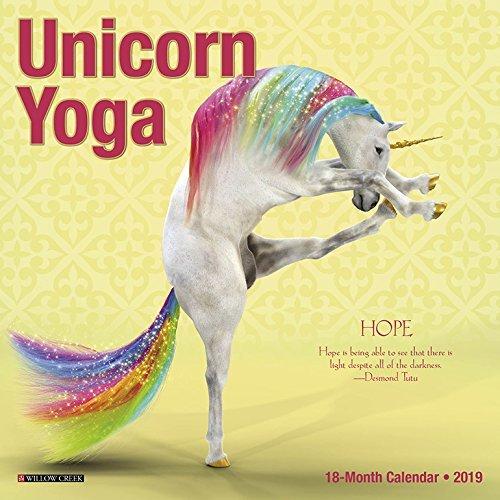 Unicorn Yoga Mini 2019 Wall Calendar