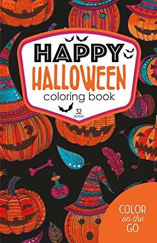 Happy Halloween Coloring Book: 32 Designs
