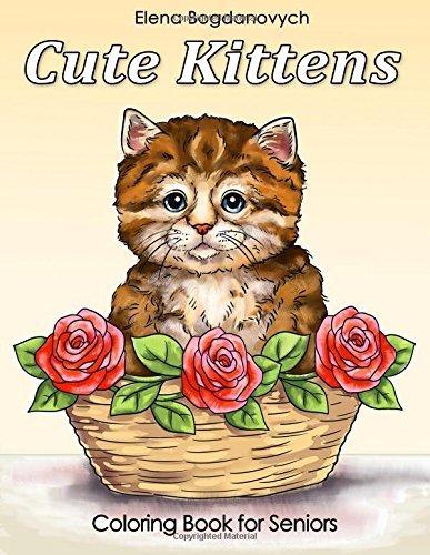 Cute Kittens Coloring Book for Seniors