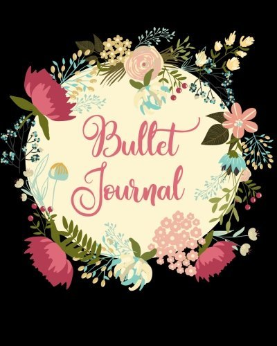 Bullet Journal: 8 x 10 Dot Grid Bullet Journal; Floral Watercolor, 160 Ghost Dotted Grid pages for Diary, Planner, Calligraphy, Organizer (BuJo Dot Grid Journals) (Volume 1)
